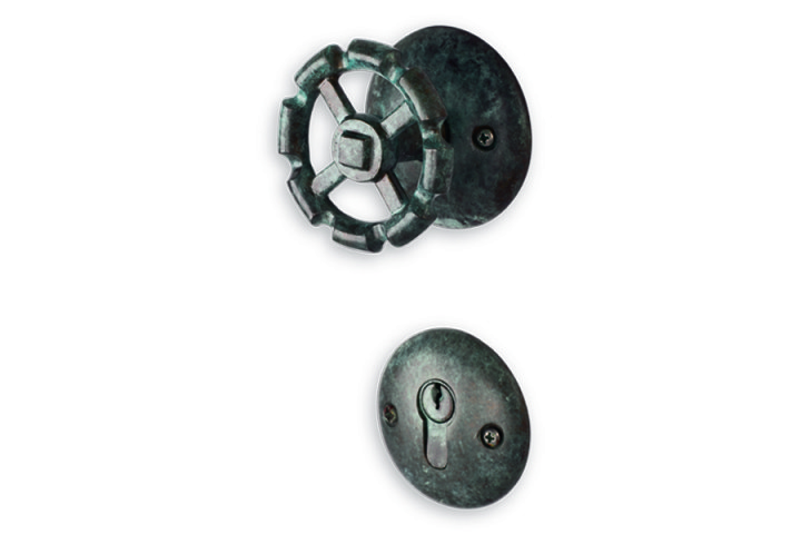 ACCESS_Valve_Mortise Handle_Green Patina